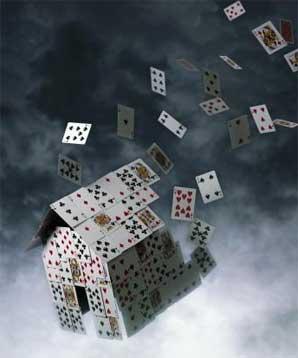 house of cards crashing